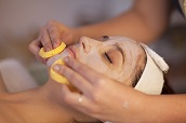 Facial mask in spa